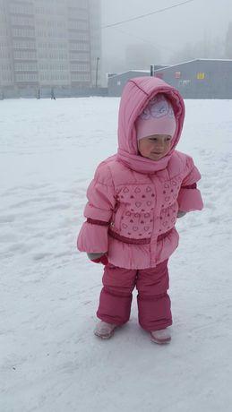 Зимний костюм на девочку  86 -92 см. В идеальном состоянии