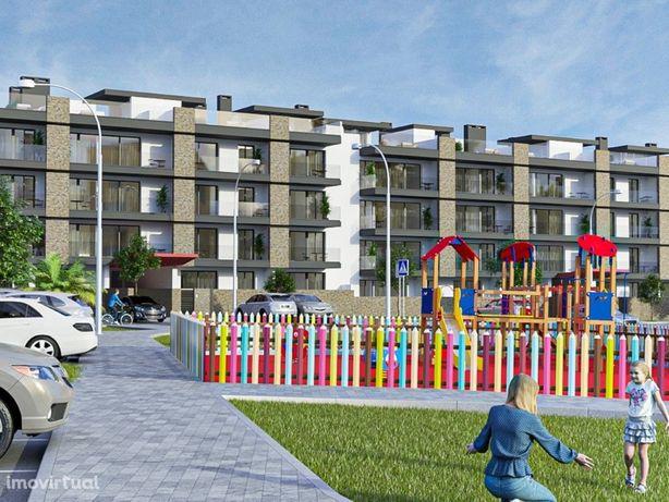 Apartamento T1 com terraço privativo em condomínio com pi...
