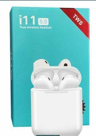 i11 TWS BT 5.0 Słuchawki bluetooth bezprzewodowe (białe)