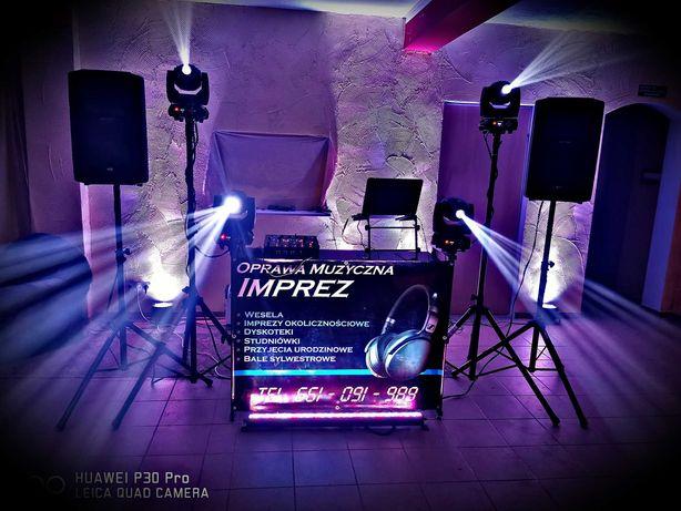 DJ Wynajem nagłośnienie oświetlenie LED wesele 18tka urodziny impreza