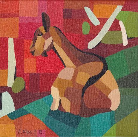 """Quadro original """"A cabra"""""""