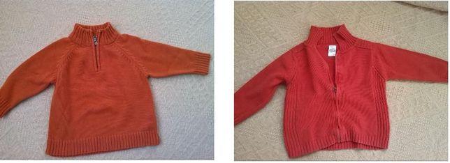 ZARA BABY, sweterek - 2 sztuki, rozmiar 78 - 80, IDEALNY stan