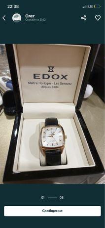 Часы позолоченные Edox оригинал прямоугольные
