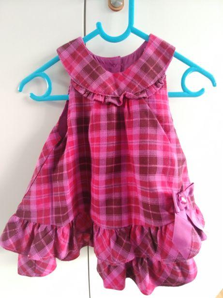 Sukienka jesienno zimowa r. 3-6 mcy