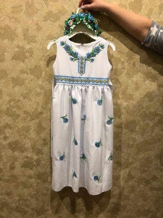 Платье детское на 4-6 лет, ручной работы Ржищев - изображение 1