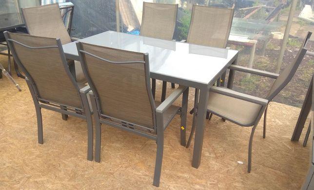 Meble Ogrodowe Zestaw PETERSBURG AMALFI Stół + 6 Krzeseł