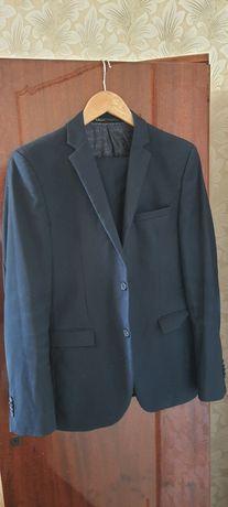 Пиджак и брюки школьные синие