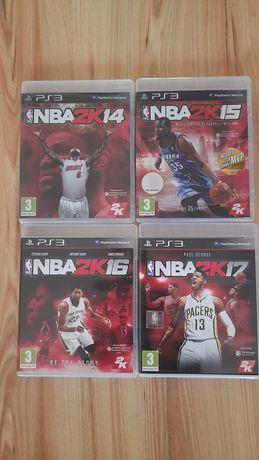 Ps3 gry NBA 14,15,16,17.Czytaj opis