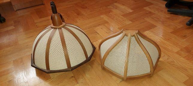 Lampy ażurowe z elementami drewna i inne