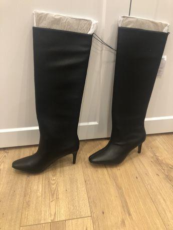 Сапоги кожаные женские Reserved
