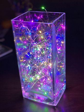 Гирлянда на Батарейках 10 метров (100 светодиодов) Распродажа