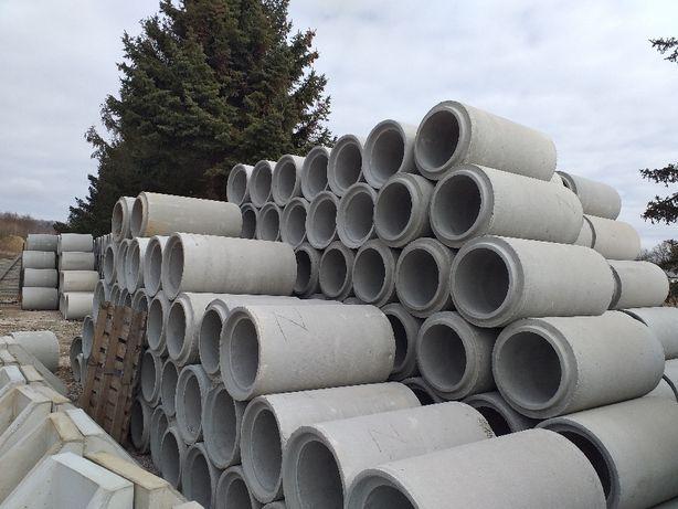 Rura betonowa, przepust fi 400,500,600,zakończenia.