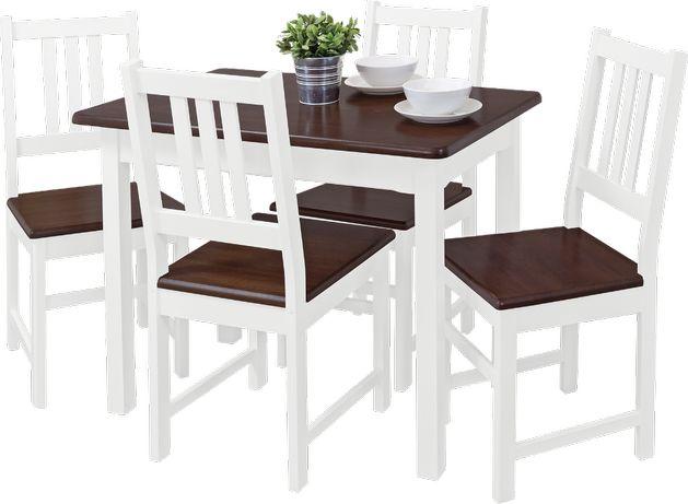 "stół + krzesła kuchenne sosnowe ""Loren""komplet kuchenny sosnowy"