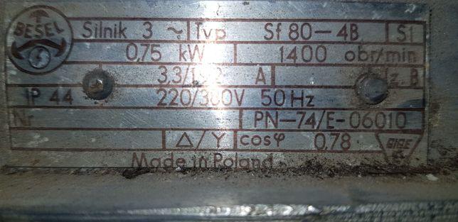 Silnik 3 fazowy 0.75 kw