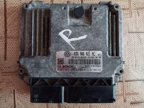 Блок управления двигателем Skoda