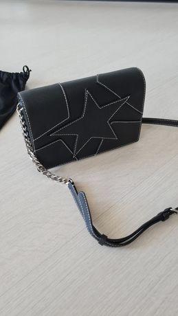 Karl Lagerfeld kors guess czarna torebka łańcuszek skóra saffiano