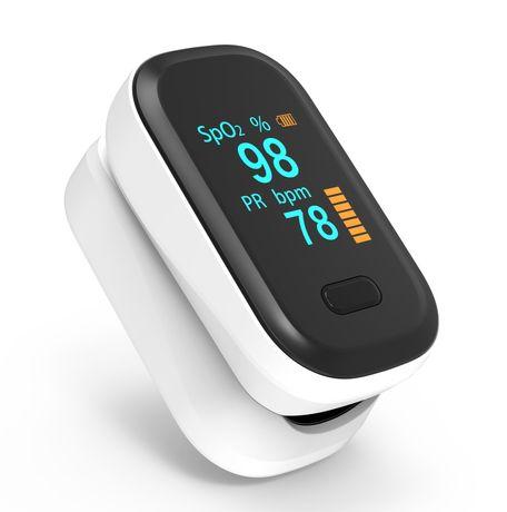 Пульсоксиметр на палець для вимірювання пульсу і сатурації крові