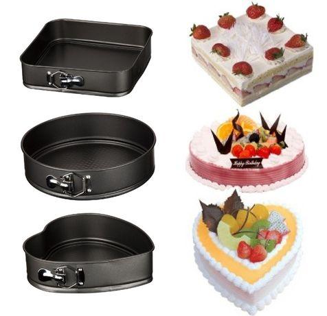 Набор разъемных форм для выпечки тортов Микс (сердце, круг, квадрат)