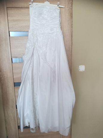 Suknia ślubna biała z kryształkami 40, 42