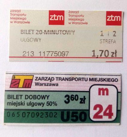 Bilet bilety ZTM Warszawa