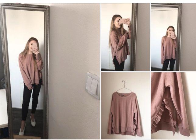 ZARA sweter/bluza falbanki S
