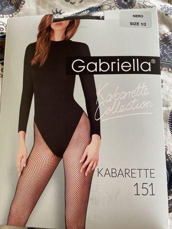 Gabrielle rajstopy kabaretki rozmiar 1/2 czarne