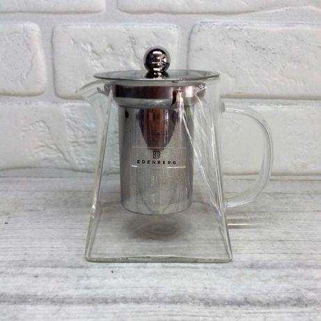 Заварочный чайник, заварник стеклянный Edenberg EB-19021, 500мл