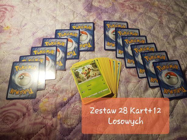 Zestaw 40 Oryginalnych Kart Pokemon dla Dzieci +gratis