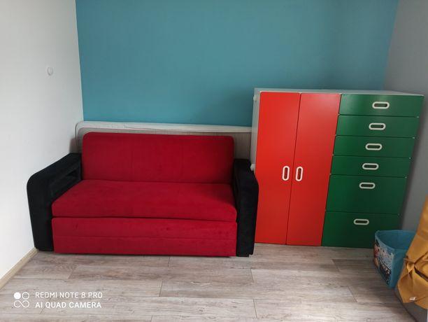 Zestaw mebli, sofa, komoda i szafa, Ikea, Bodzio