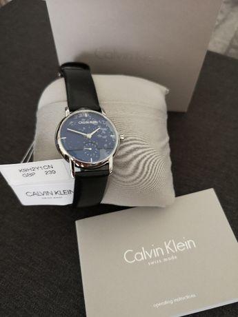 CK Calvin Klein damski zegarek szafirowy błękit Nowy K9H2Y1CN