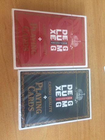 Карты игральние для покера набор 2 колоды за ценой 1 набор красн+синяя