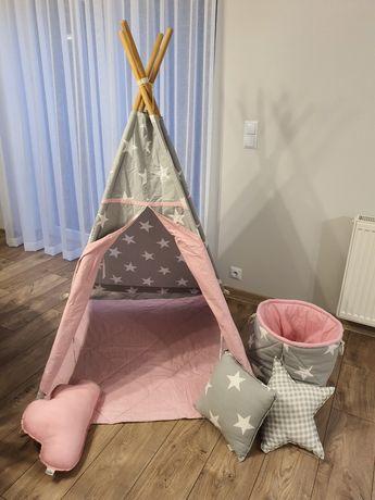 Namiot Tipi Fun with mum 100x100cm + poduszki + kosz na zabawki Okazja