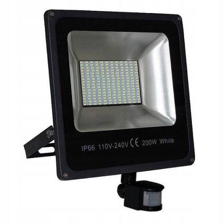 HALOGEN Lampa NAŚWIETLACZ LED 200W z Czujnik Ruchu Reflektor Mocny
