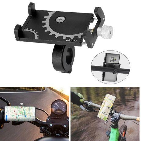 мото вело держатель для телефона на руль алюминивый