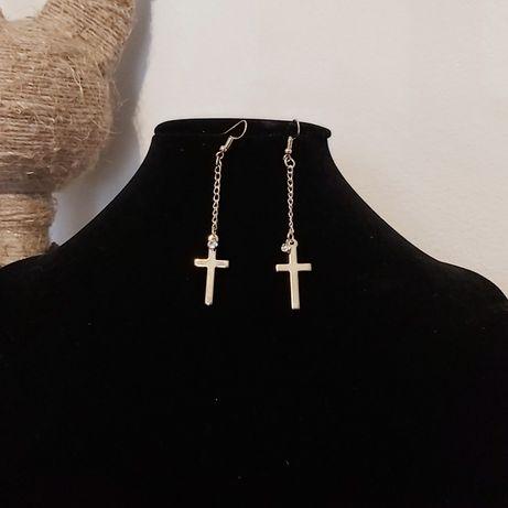 Kolczyki Krzyż i cyrkonia