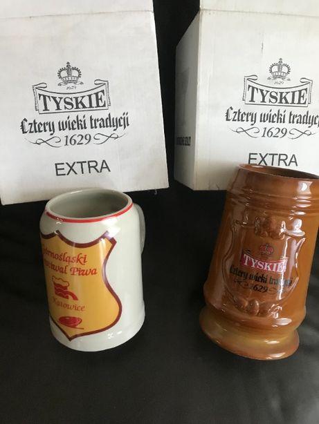 Kufle kolekcjonerskie ceramiczne Tyskie
