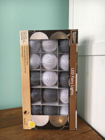 możliwość wysyłki / Cotton Balls lampki kule girlanda 15szt