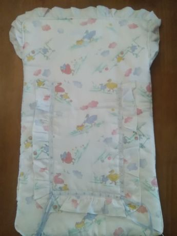 Saco cama + proteção cama grades + muda fraldas