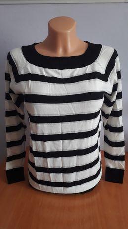 Nowy sweterek M, srebrna nitka