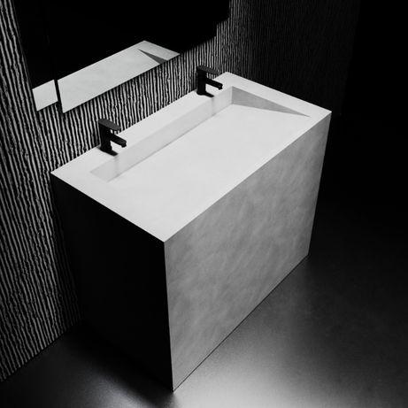 Бетонный умивальник раковина кашпо вазон из бетона лофт дизайн горшок