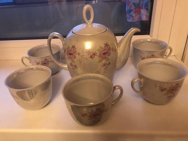 Чайный сервиз перламутр на 6 персон
