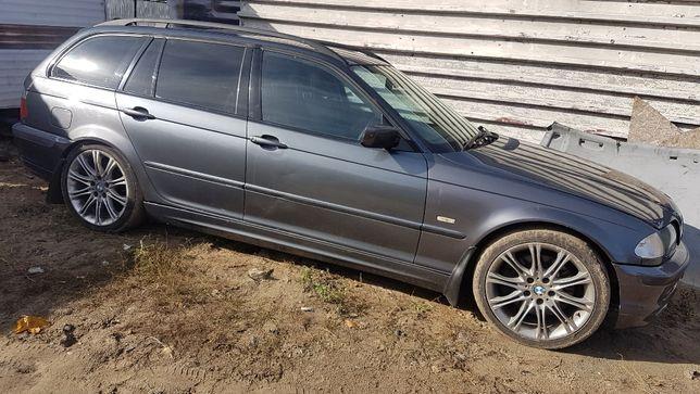 Maska błotnik zderzak drzwi BMW E46 kombi touring stahlgrau metallic
