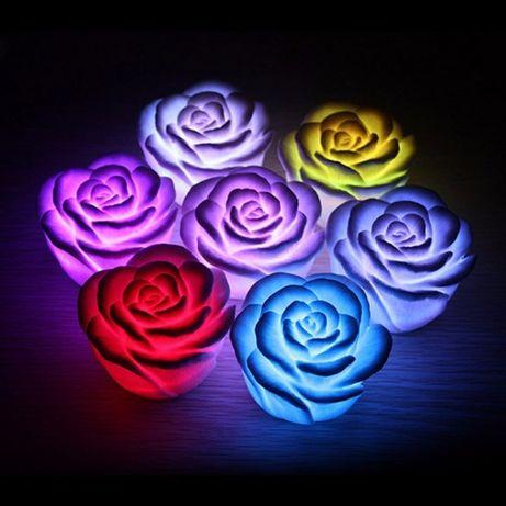 Piękna lampka róża LED, świeci w 7 kolorach...