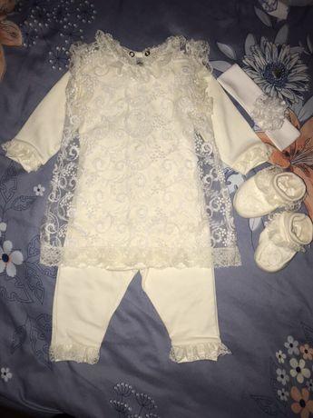 Нарядный комплект, платье на крестины, фотосессию  или праздник