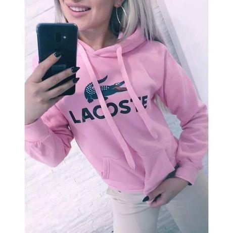 Bluza damska z kapturem różowa z logo Lacosta S-XL!!!