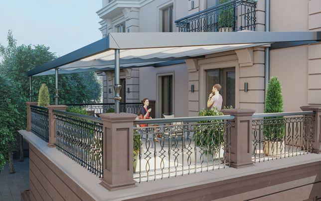 3к квартира с уникальной террасой. Новый дом Каркашадзе!