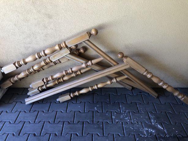 Drewniane poręcze balustrady