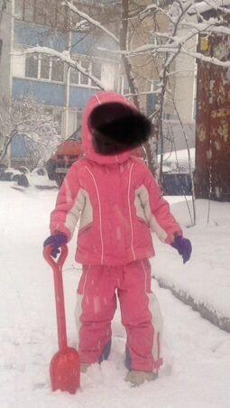 Комбинезон зимний термо  для девочки  Chicco рост 92