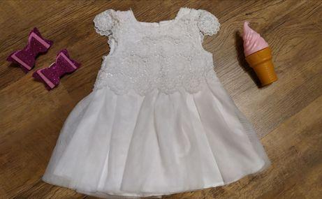 Красивое, нарядное платье на выписку, крестины