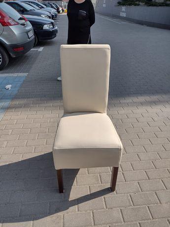 Krzesło ze skóry ekologicznej jak nowe